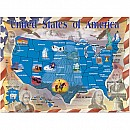 0500 pc Map of the U.S. Cardboard Jigsaw