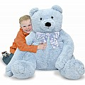 Jumbo Blue Teddy Bear  Plush