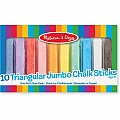10 Jumbo Triangular Chalk Sticks