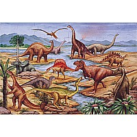 Puzzle Dinosaurs Floor 48Pc