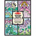 Stained Glass Coloring Pad  Fairies