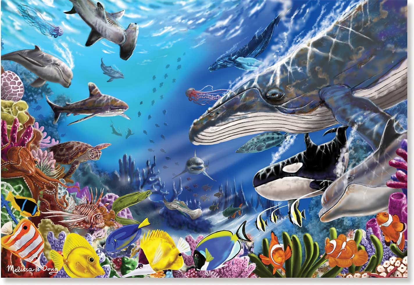 200 pc living ocean cardboard jigsaw puzzle kremer s toy and hobby
