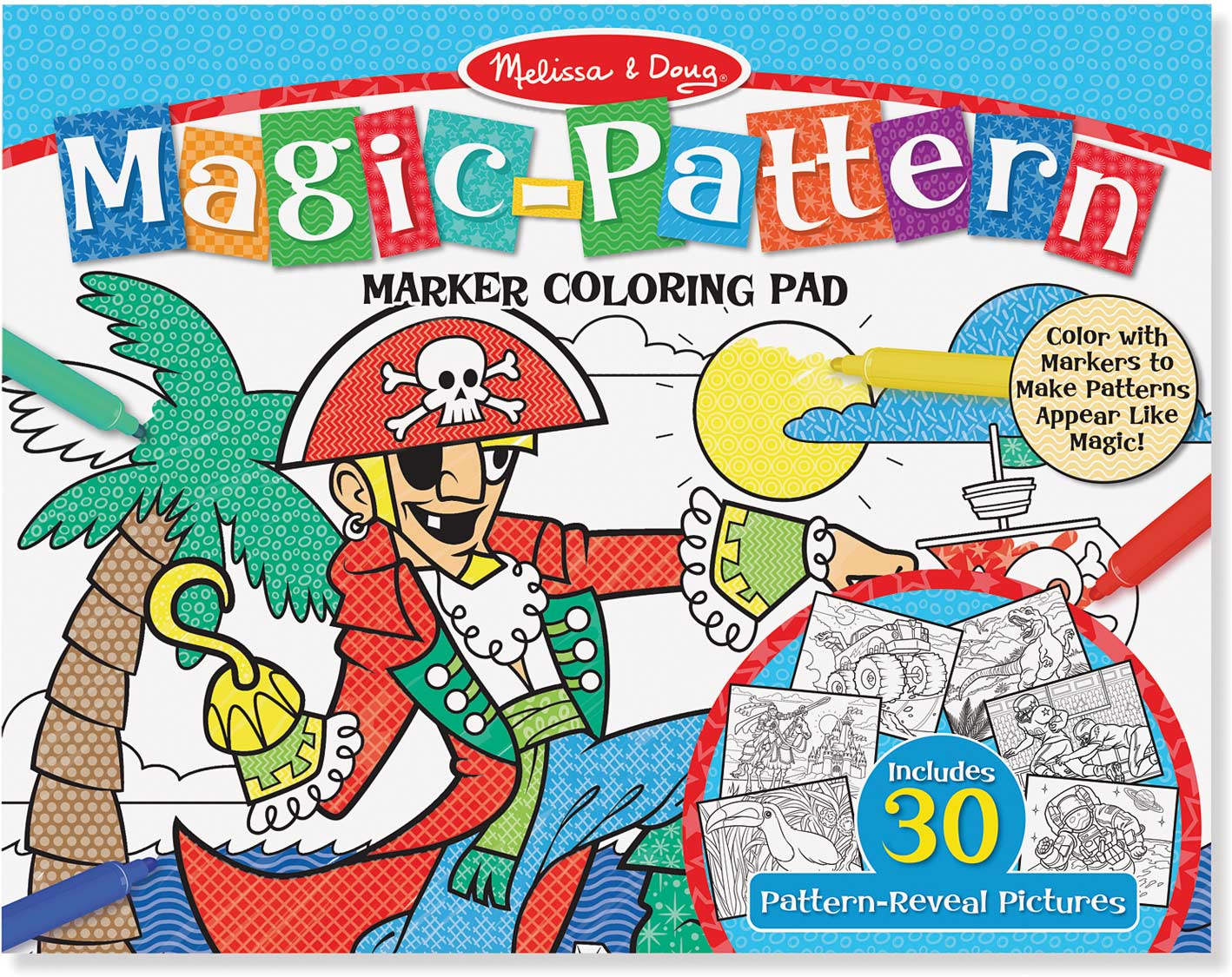 Magic-Patterns Coloring Pad - Blue - Modern State - State News NYC