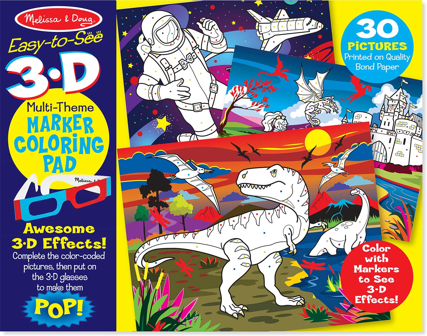 3D Coloring Book - Boy - Modern State - State News NYC
