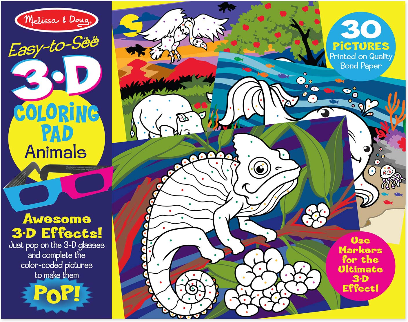 3D Coloring Book - Animals - Imagine That Toys