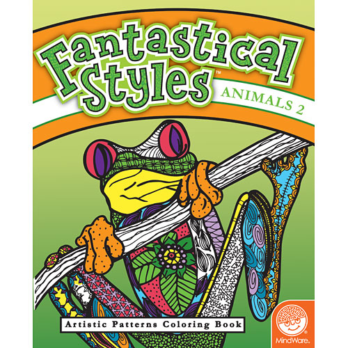 Fantastical Styles Animals 2 Coloring Book