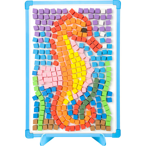 Magnetic mosaics kids monkey fish toys for Mosaic templates for kids