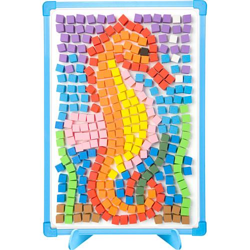 mosaic templates for kids - magnetic mosaics kids monkey fish toys