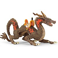 Fire Dragon With Saddle