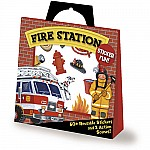 Fire Station Sticker Activity Tote