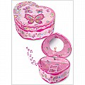 Fancy Butterfly Heart Musical Jewelry Box