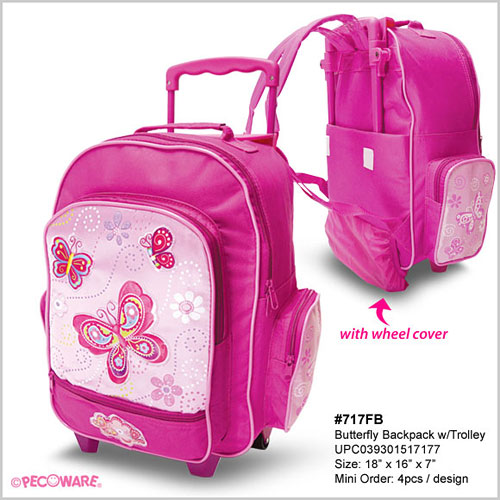 d8d5b2edab53 Fancy Butterfly Backpack With Trolley - Twinkles