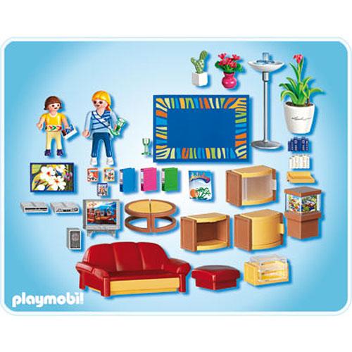 Living room the toyworks for Playmobil living room 4282