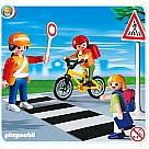 Playmobil 4328 School Crossing Guard With Kids