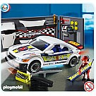 Playmobil 4365 Car Repair Shop and Race Car With Headlights