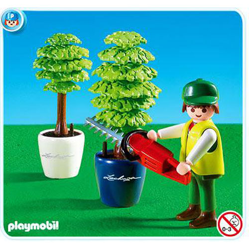Playmobil gardener with hedge trimmer 4485 playmobil for Playmobil kinderzimmer 4287