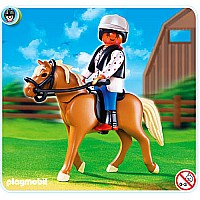 Playmobil Halfinger Horse with Rider and Stable