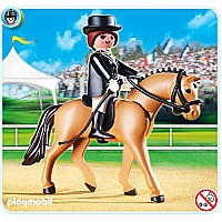 Playmobil German Sport Horse with Dressage Rider and Stable