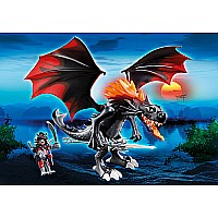 Giant Fighting Dragon With Fire-ledï¾´s