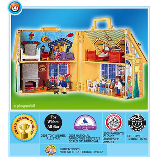 Playmobil Take Along Christmas House my Take Along Doll House by