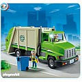 Green Recycling Truck