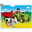 Playmobil 123 Farmer with Tractor