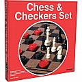 Chess  Checkers Set (hardboard)