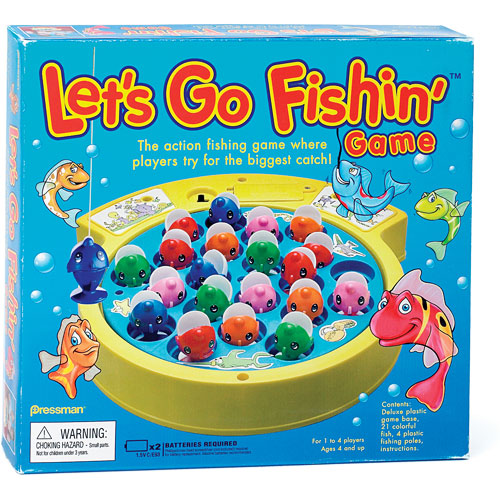 Fish Toy Game 70s : Lets go fishin game talbots toyland