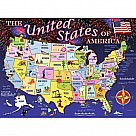 100 Piece Puzzle, USA Map