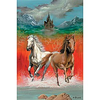 Puzzle Dashing Horses 100pc DC