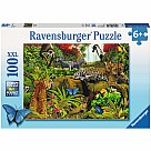 100 Piece Puzzle, Wild Jungle