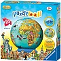 108 pc Children's World Map Puzzleball