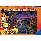African Animals at Night  Puzzle (100 pc)