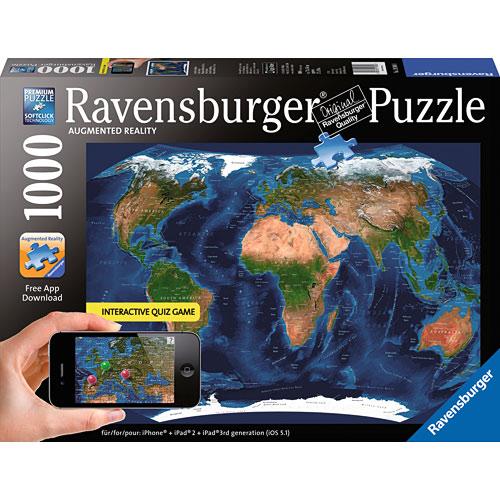 Ravensburger Satellite World Map - Ravensburger satellite world map puzzle