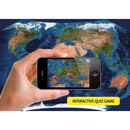 Satellite World Map Piece Puzzle Ravensburger - Ravensburger satellite world map puzzle
