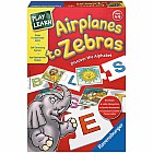 Airplanes to Zebras Card Game with self-correcting pieces