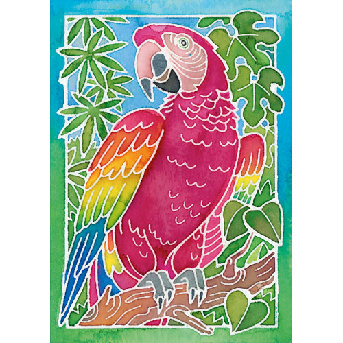 aquarelle parrot arts and crafts kit fun stuff toys. Black Bedroom Furniture Sets. Home Design Ideas