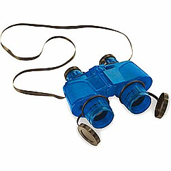 Blue Binoculars with Vinyl Case