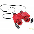 Binoculars with Vinyl Case - Red