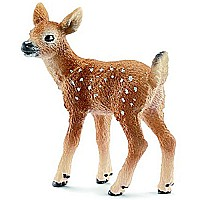 Schleich White-Tailed Fawn Toy Figure