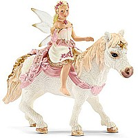 Schleich Delicate Lily Elf, Riding A Pony Toy Figure