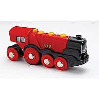 BRIO Mighty Red Battery Operated Locomotive