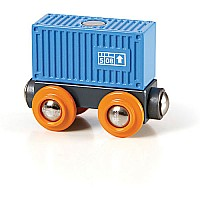 Blue Container Wagon