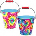 TIE Dye TIN Pail Assorted