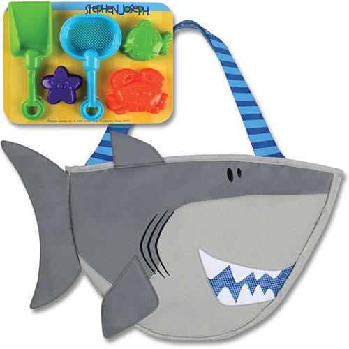 Shark Toy Set : Beach totes w sand toy play set shark homewood hobby