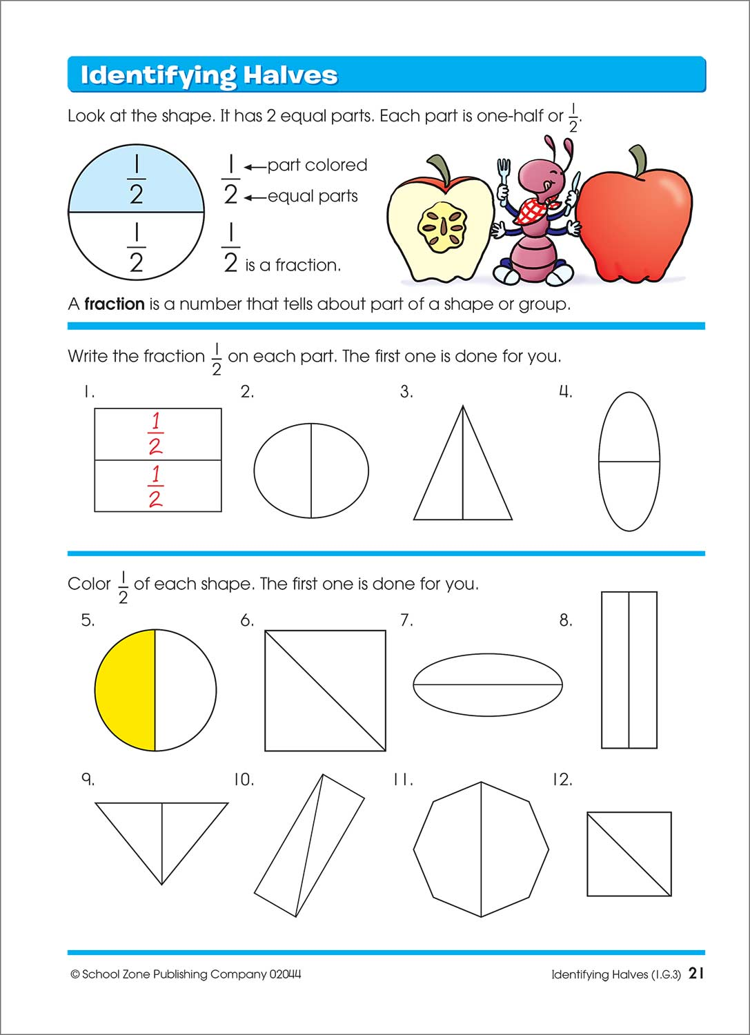 Time, Money & Fractions 1-2 Workbook - Raff and Friends