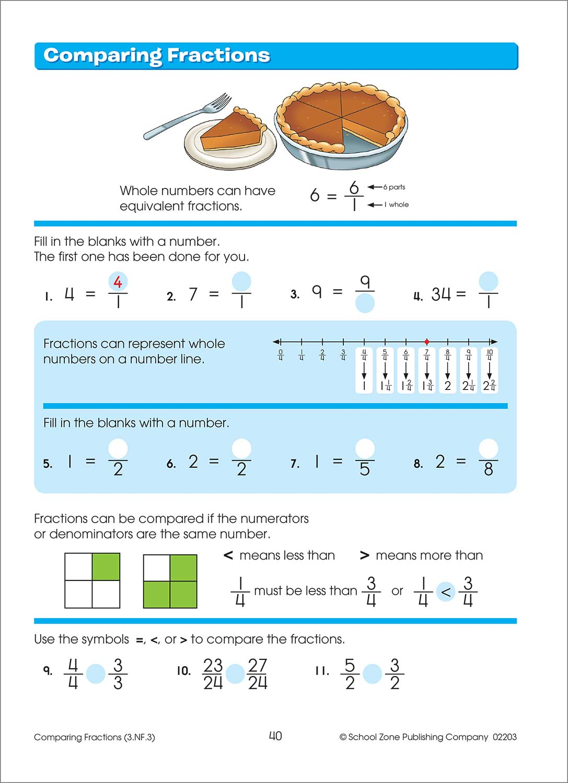 Third Grade Workbooks - Math Basics Deluxe Edition - Fun Stuff Toys