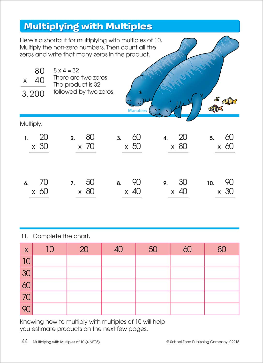 3rd-4th Grade Workbook - Multiplication Division Deluxe - Fun Stuff Toys