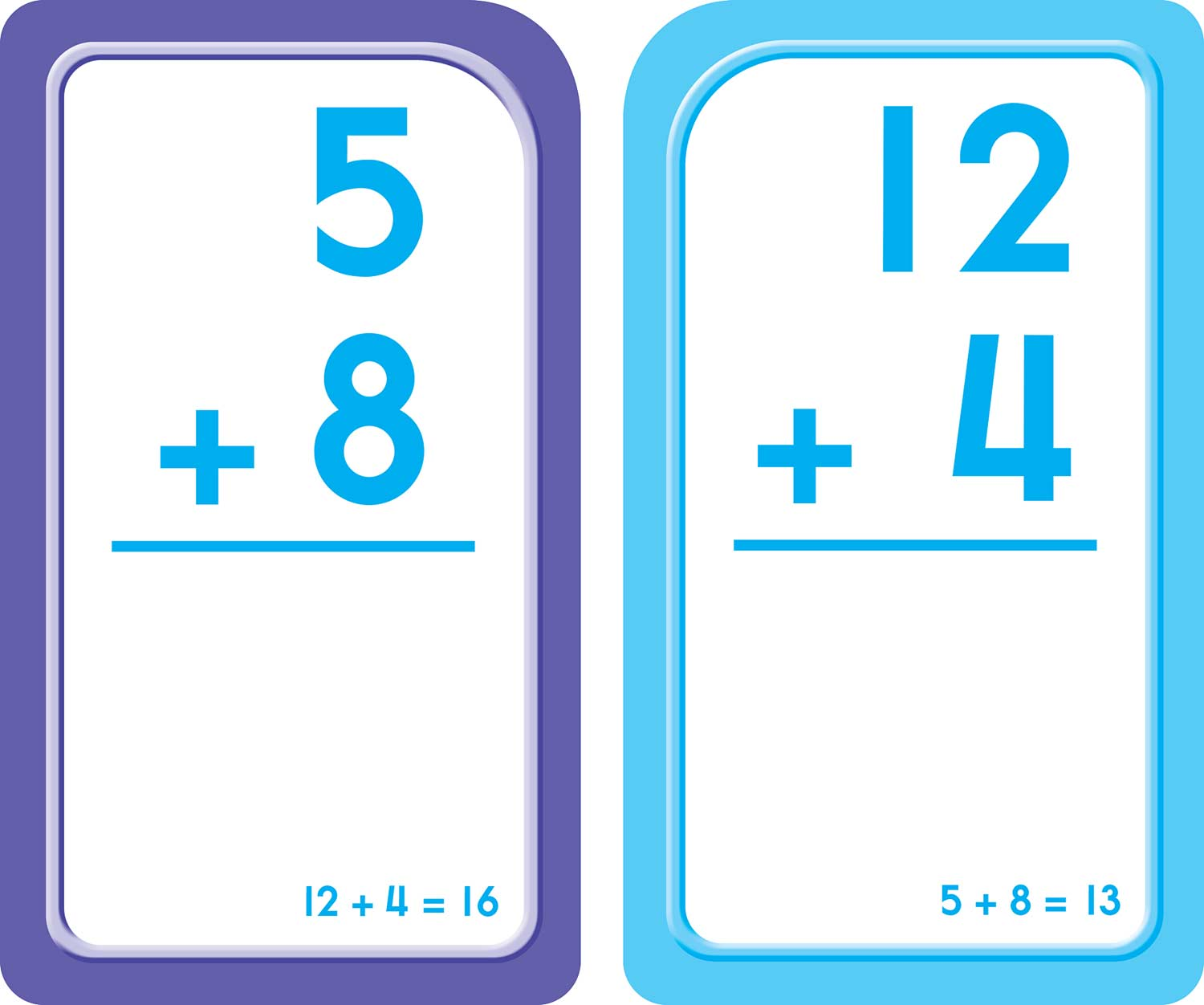 1st and 2nd Grade - Addition 0-12 Flash Cards - Fun Stuff Toys