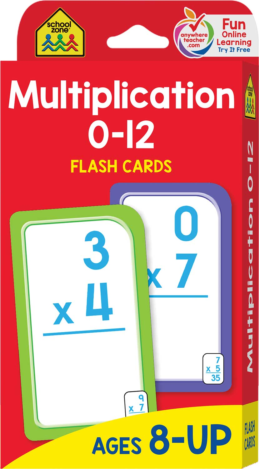 3rd 4th and 5th grade multiplication flash cards 0 12 fun stuff toys. Black Bedroom Furniture Sets. Home Design Ideas